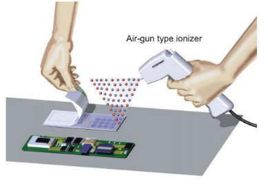 Air-gun Type - Removal of static electricity when peeling a